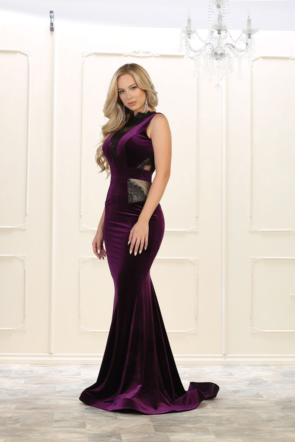 Long prom dress velvet evening party gown products pinterest