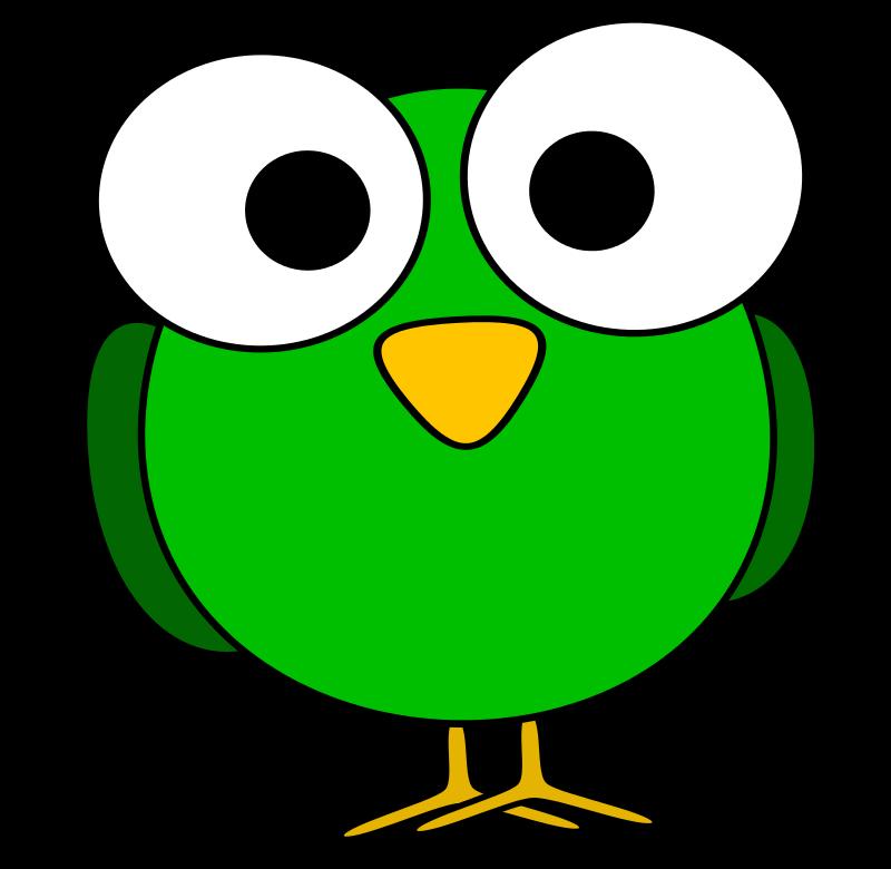 Clipart Green Googly Eye Bird Cartoon Birds Clip Art Vintage Clip Art Library