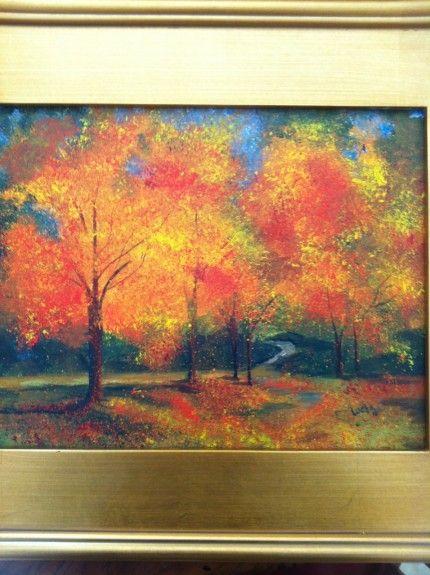 Acrylic Fall Trees Tutorial Tree Art Painting Fall
