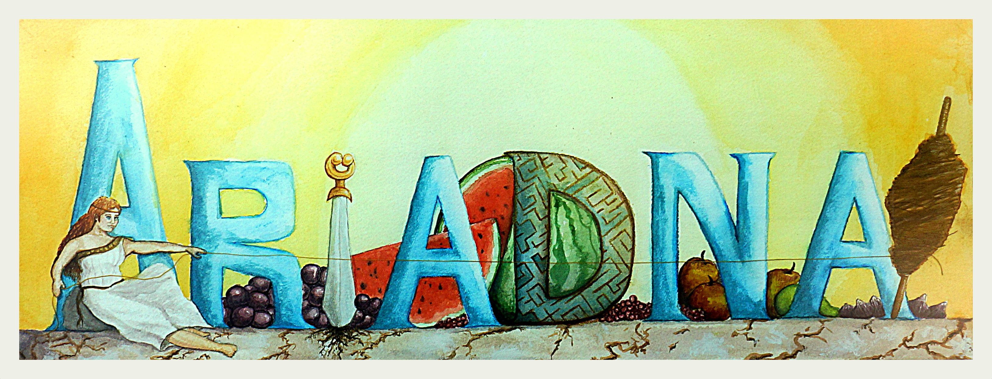 """Ariadna, the Spanish version for """"Ariadne"""". This was the present I did for the new born of one of my best friends."""