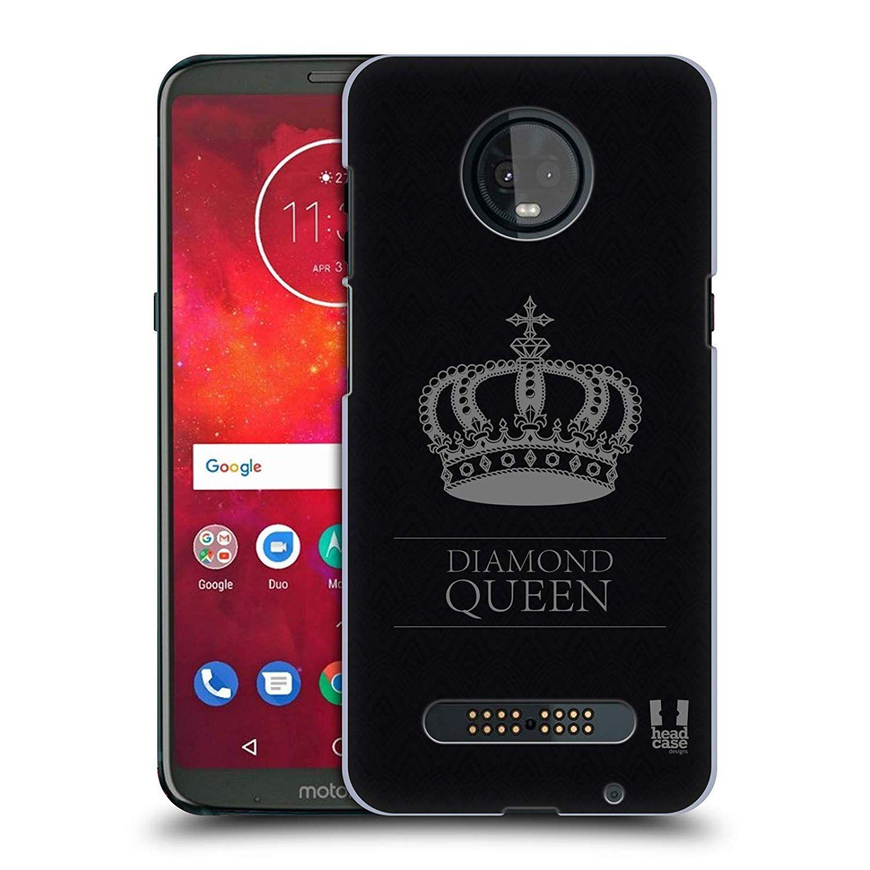 release date 3ad08 e5332 Amazon.com: Head Case Designs Black and Grey Queen Crown Diamonds ...