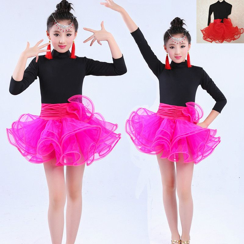 96e5255b3 Children s Latin dance practice clothes girls autumn and winter new ...