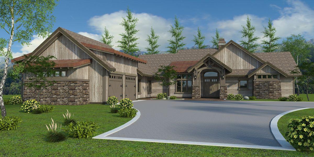 Adirondack Lodge House Plan Modern Lodge Home Design Floor Plan Craftsman Style House Plans Craftsman House Designs Luxury Ranch House Plans