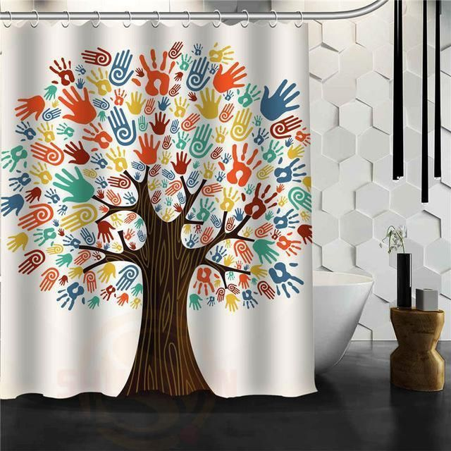 The Tree Of Life Shower Curtain W Hooks