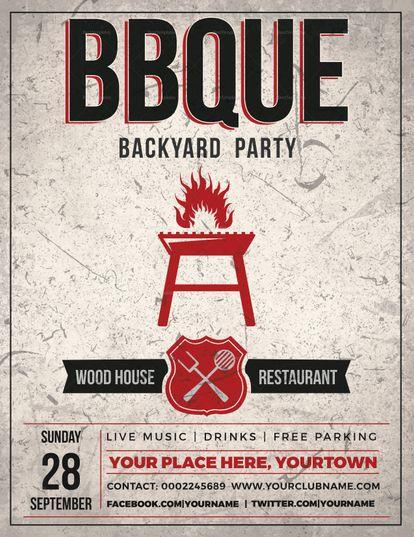 Backyard Bbq Event Flyer Template  Design Flyer Templates