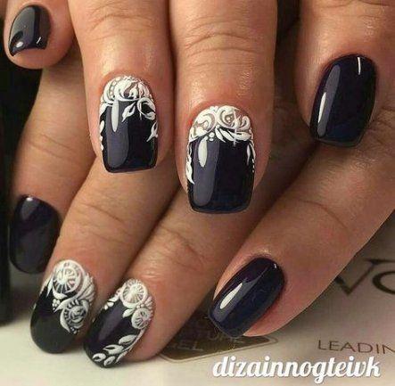 nails gel elegant black white 52 new ideas  elegant nail