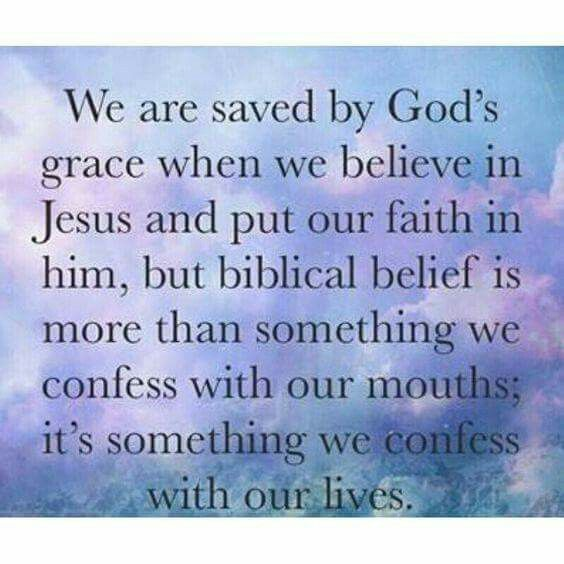 We are saved by God's grace