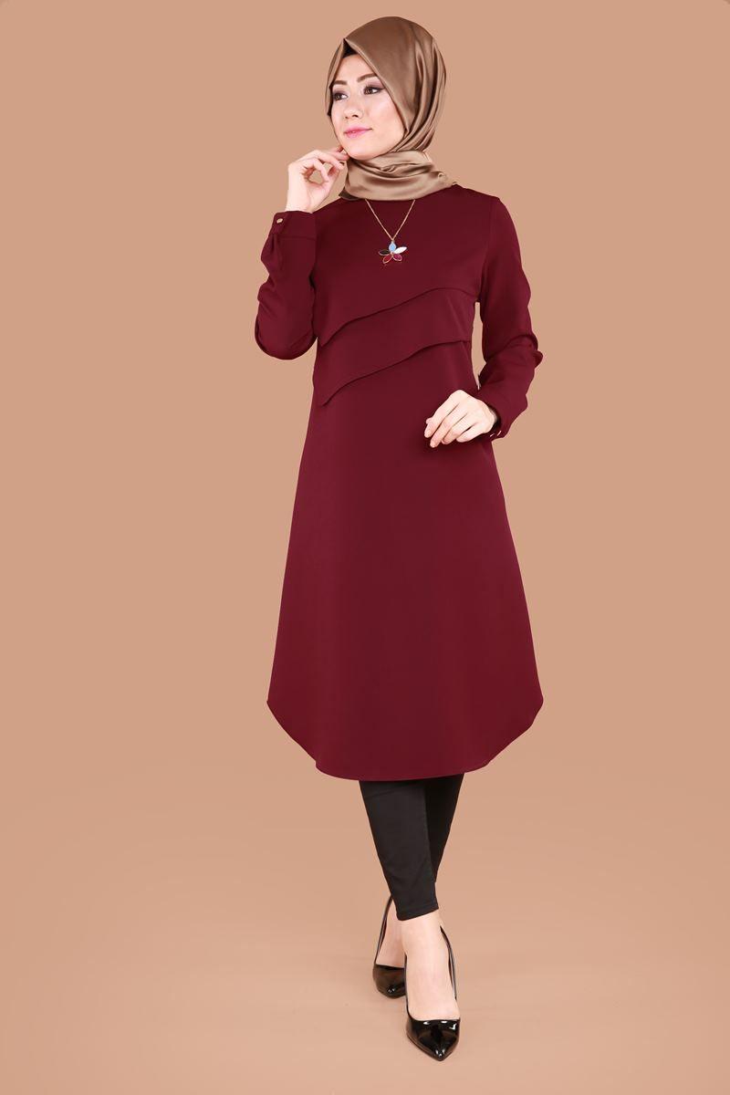 M D H Lazer Kesim Detayli Tunik Mdh8074 Haki 1 Dresses 2019 Hijab Dress Hijab Fashion Ve Dresses