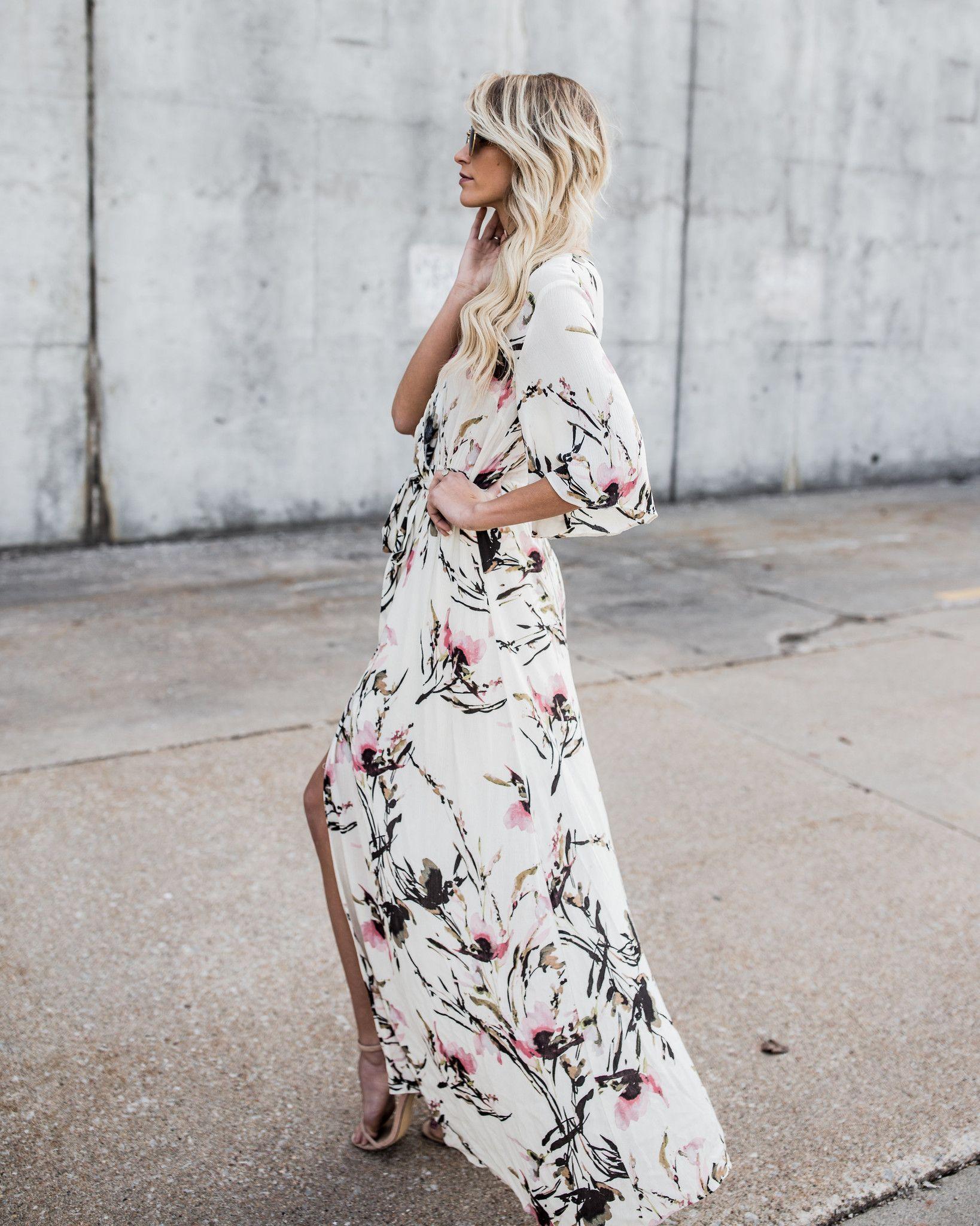 Lovebird Wrap Maxi Dress