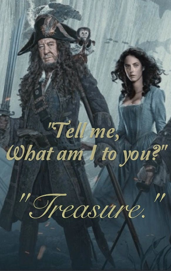 Pirates Of The Caribbean Dead Men Tell No Tales Will Turner Tell Me What Am I To You Treasure Carina And Her Father Hector Barbossa Dead Men Tell No Tales Pirates Pirates Of The Caribbean Pirates Caribbean