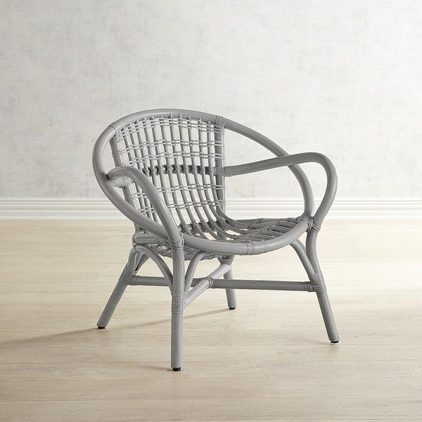 Pier 1 Imports Jacob Rattan Chair ($200) ❤ Liked On Polyvore Featuring Home,