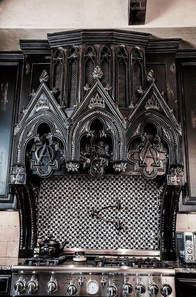25 Amazing Gothic Black Kitchen Interior Design Ideas Kitchens Kitchendesign Kitchenideas Gothic Home Decor Gothic Interior Horror Decor