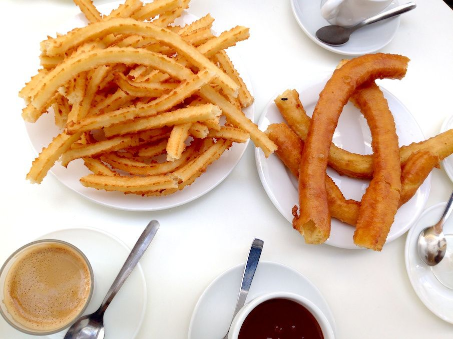 Churros the traditional spanish breakfast by excellence