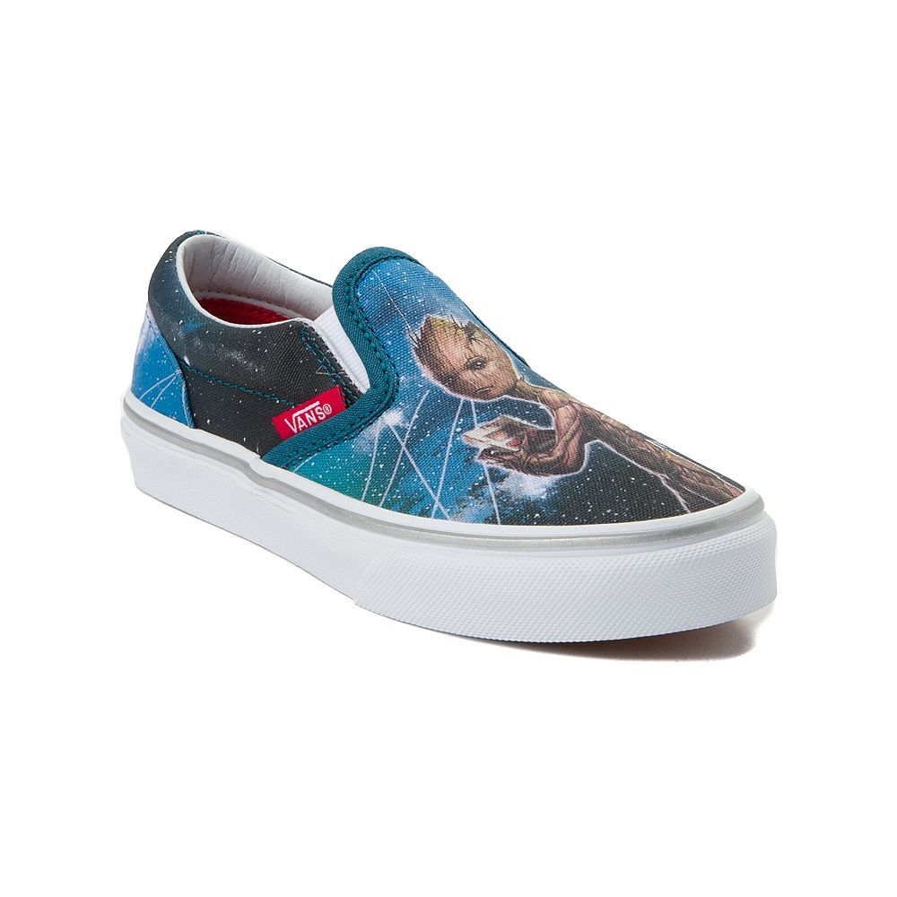 Youth Vans Slip On Marvel Avengers Groot Skate Shoe Blue