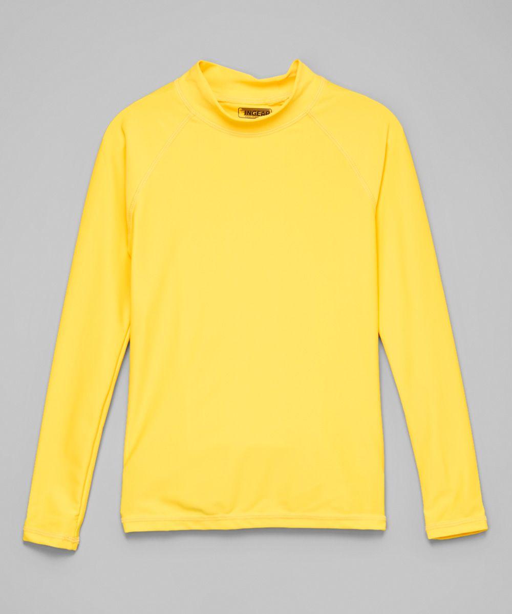 Yellow Long-Sleeve Rashguard - Toddler & Girls