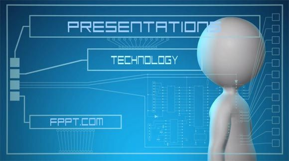 animated technology powerpoint templates free d business