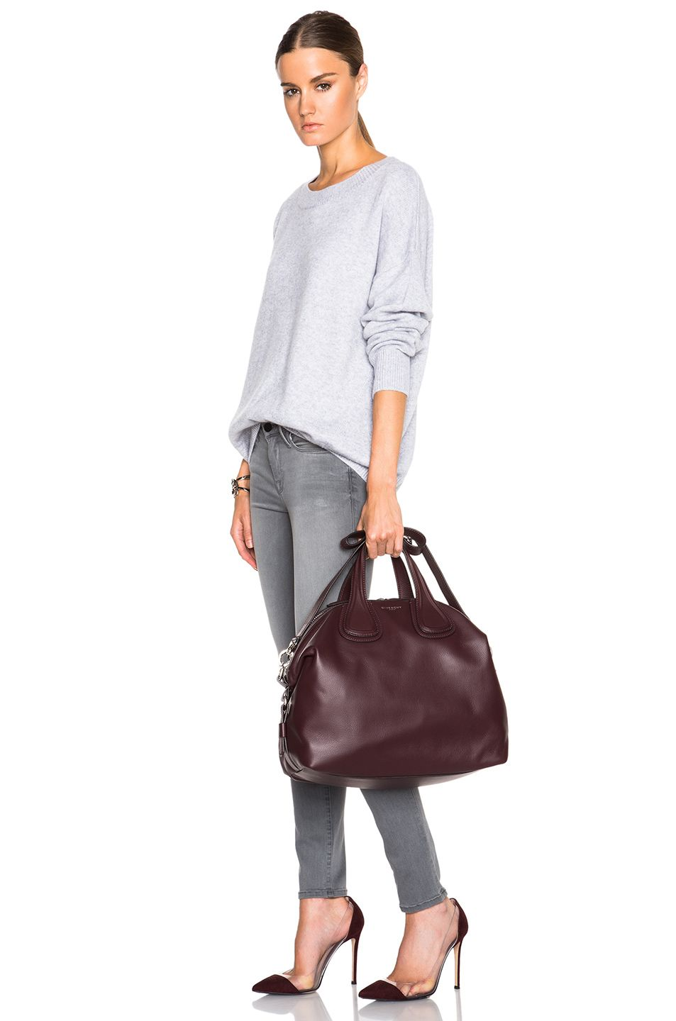 b67756a5c1 Image 2 of GIVENCHY Medium Nightingale in Oxblood Red