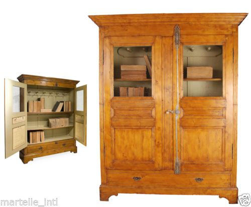 Bookcase Cabinet Armoire French Race Horse Jockey Pine Wire Iron Vertical Knob   eBay