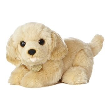 Realistic Stuffed Golden Retriever Puppy 10 Inch Plush Dog By