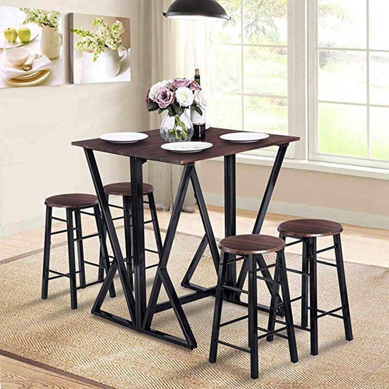 Hideaway 5 Piece Counter Height Breakfast Nook Dining Set Counter Height Dining Table Set Dining Table Setting Dining Room Bar