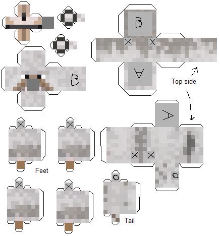 [8+] Papercraft Minecraft Lobo