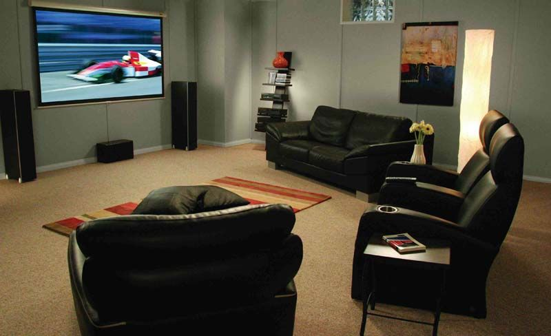 Basement Living Entertainment Room As The Main Room For Movies Tv Gaming