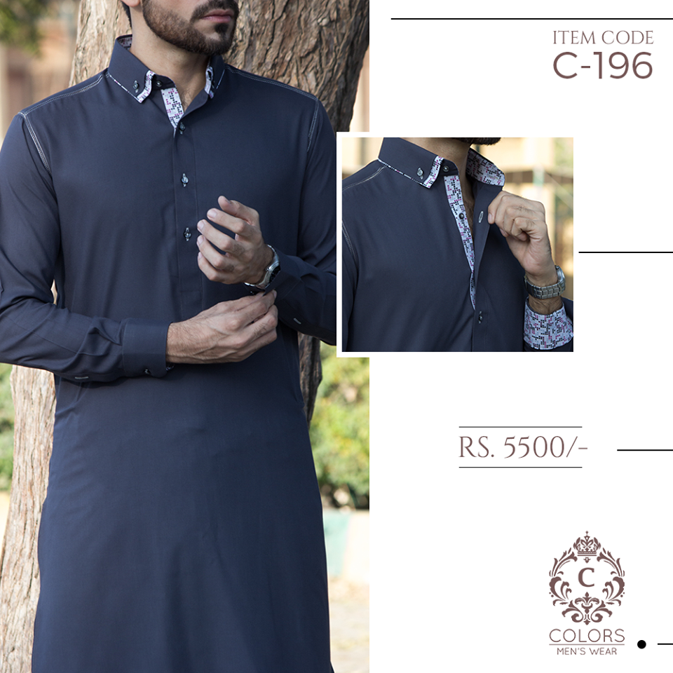 Colors by Cherry Shalwar Kameez Collection for Men 2017 (6