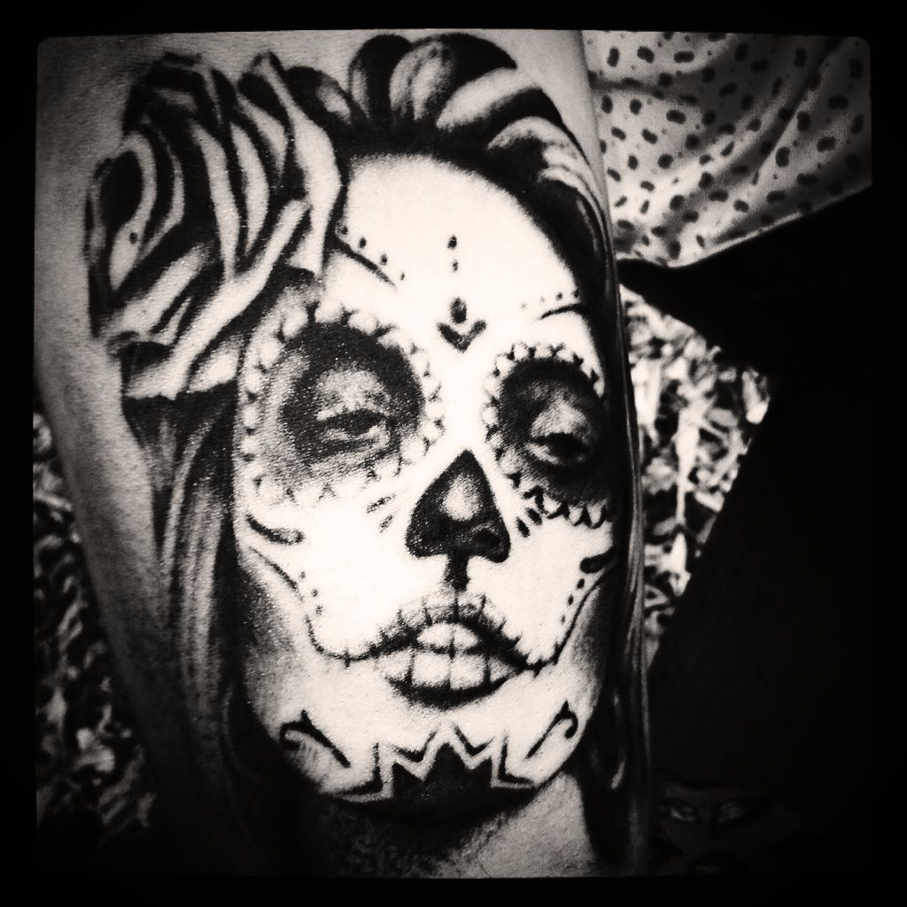 Sugar Skull womans face Tattoo on my forearm Face tattoo