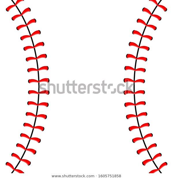 Baseball Ball Stitches Red Lace Seam Stock Vector Royalty Free 1605751858 Red Lace Baseball Stitch Baseball Balls