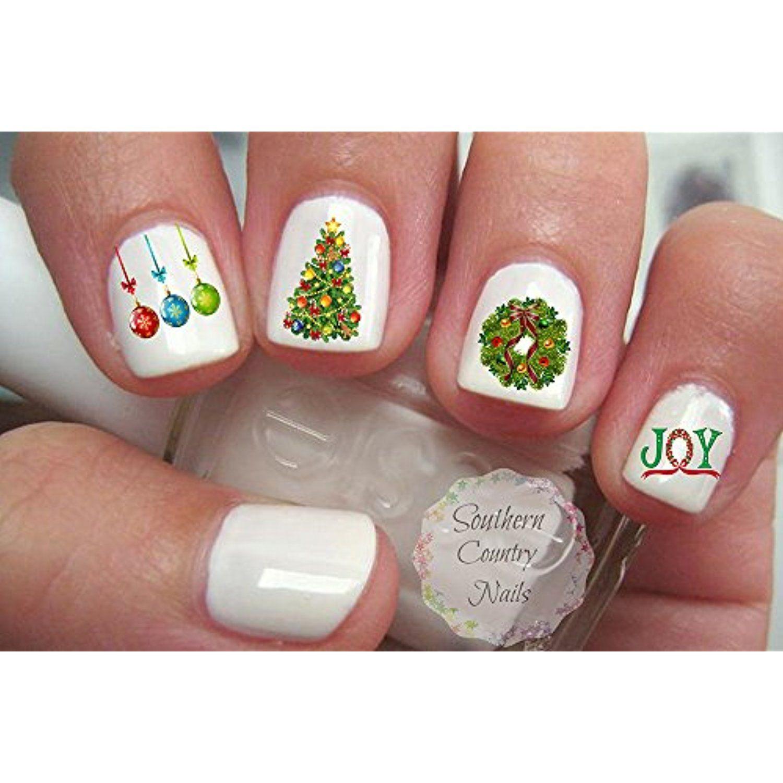 Christmas Nail Decal Nail Art Stocking Stuffer Fingernail Decals