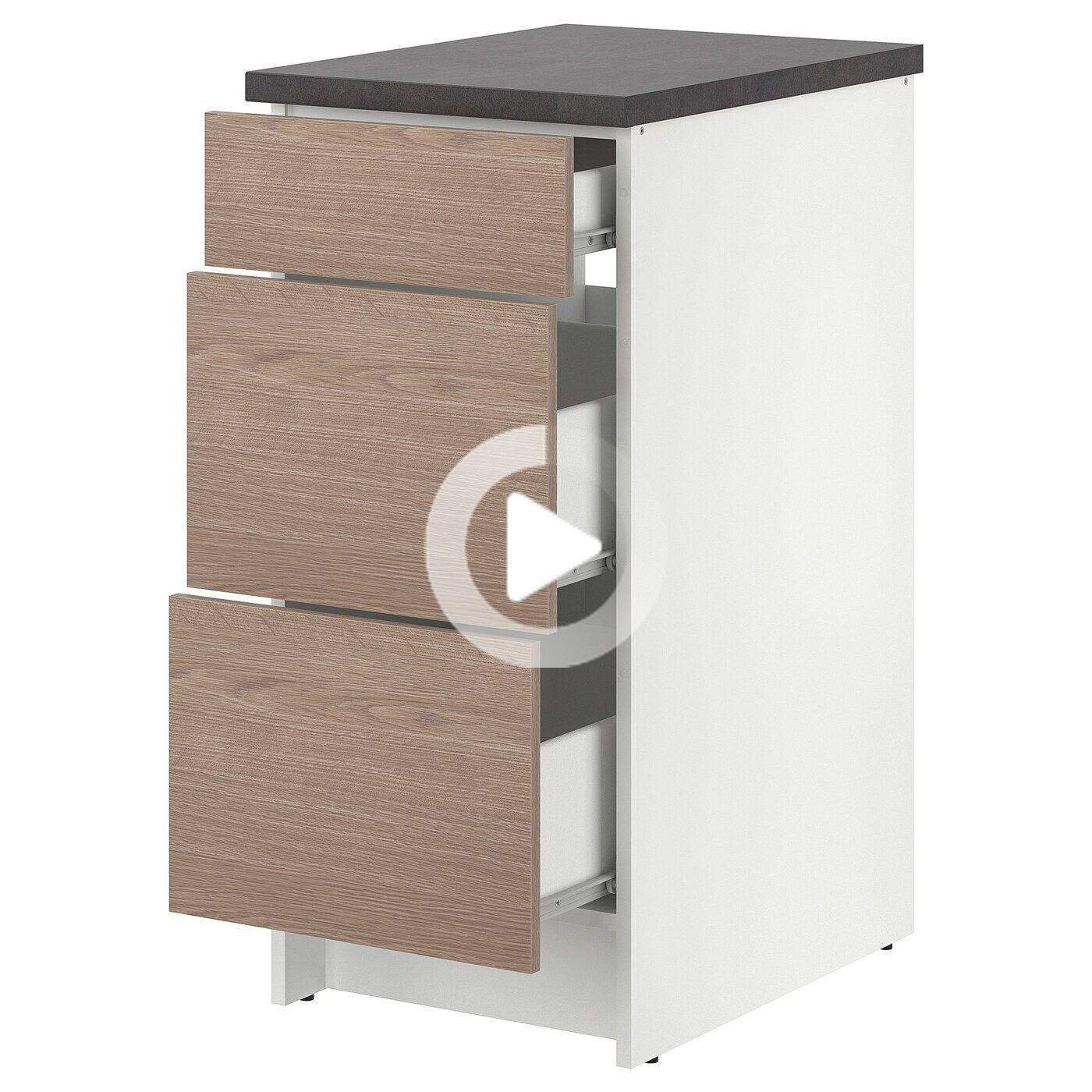 Knoxhult Element Bas Avec Tiroirs Blanc Ikea In 2020 Onder Kast Ikea Lades