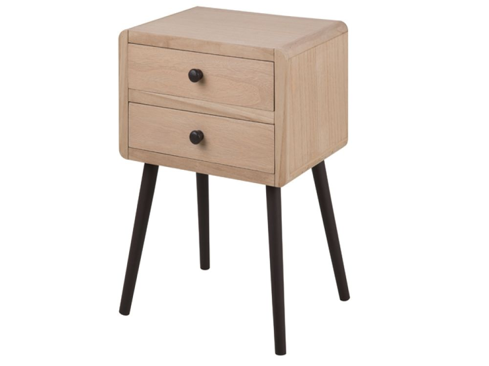 The Torp 2 Drawer Pine Bedside Table has a 2 drawer design with a light brown  sc 1 st  Pinterest & The Torp 2 Drawer Pine Bedside Table has a 2 drawer design with a ...