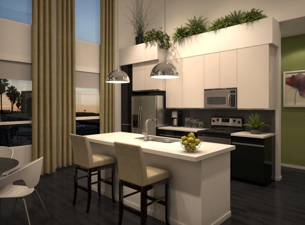 Kitchen Rendering At Amli Lex On Orange A Luxury Apartment