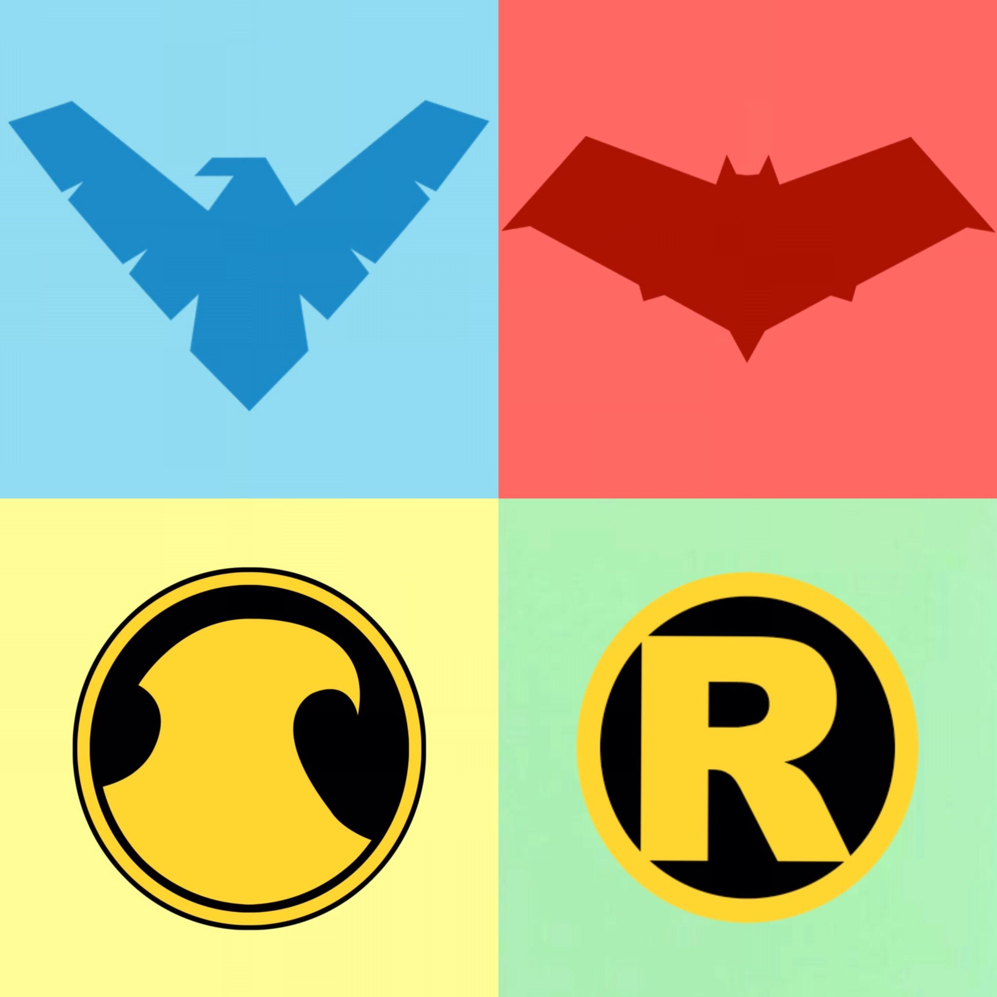 Red robin symbol gallery symbol and sign ideas nightwing dick greyson blue red hood jason todd red red nightwing dick greyson blue red hood buycottarizona Choice Image
