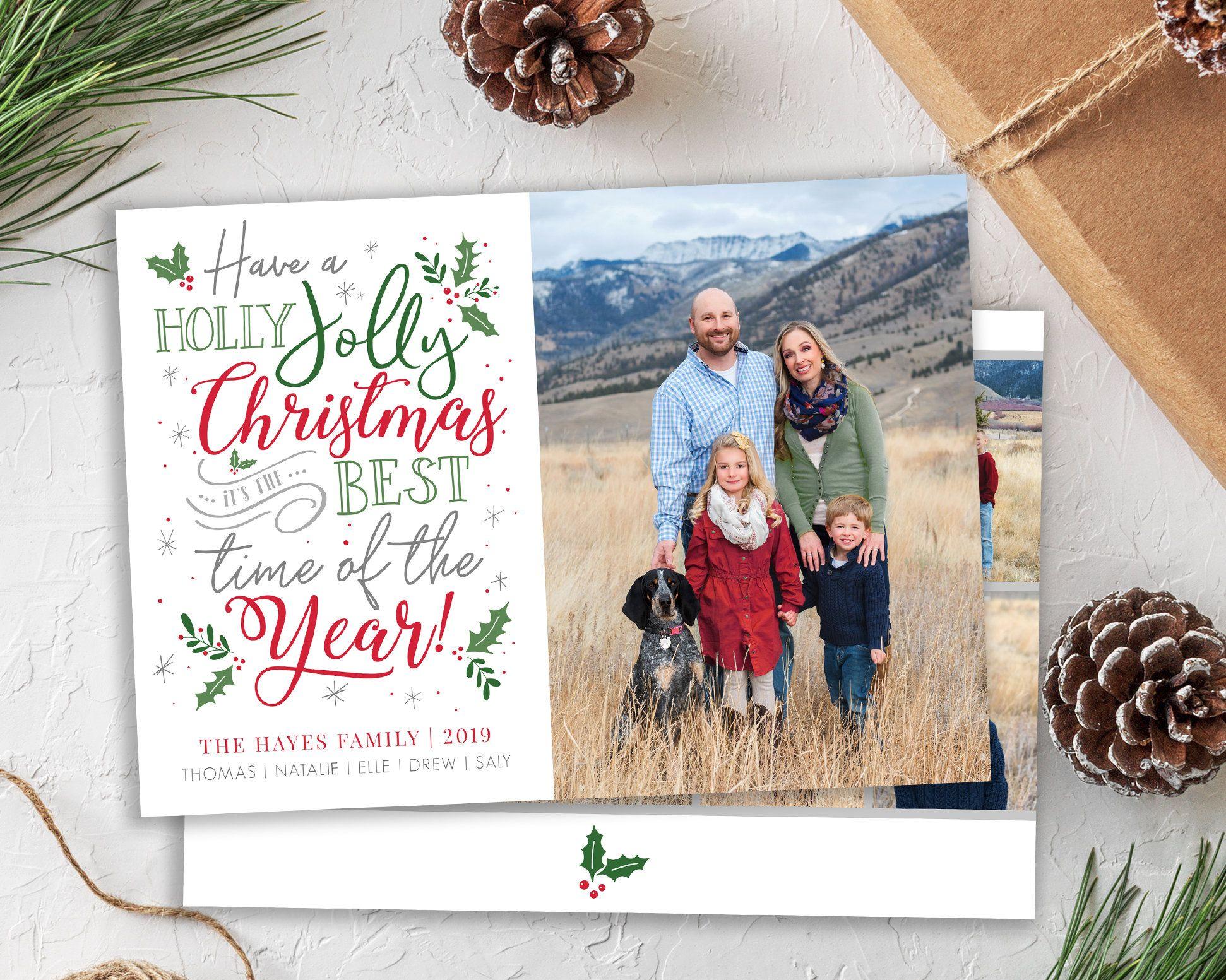 Christmas Card Template Holiday Card Holly Jolly Christmas Card Merry Christmas Photo Card Template Photoshop Christmas Card Christmas Card Template Christmas Photo Card Template Merry Christmas Card Photo