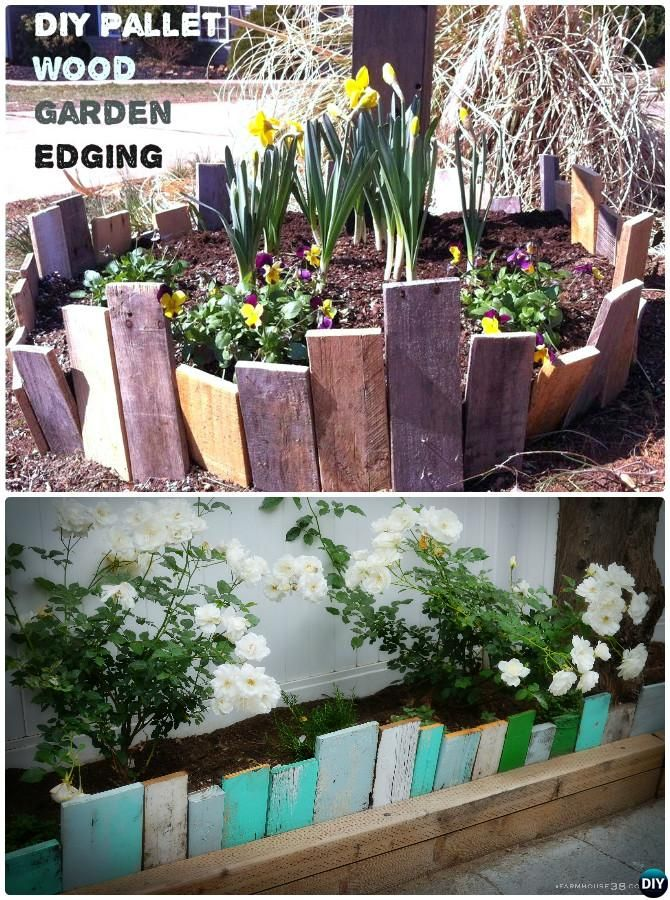 Scrap Wood Garden Bed Edging 20