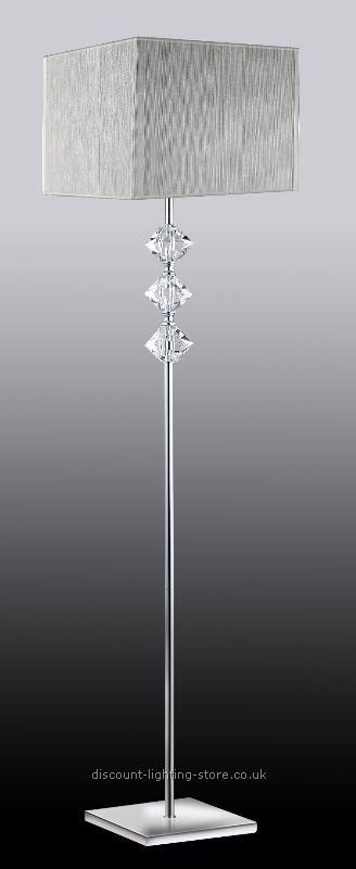 Floor Standing Lamps : Floor Lamps : Chrome/White K9 Crystal ...