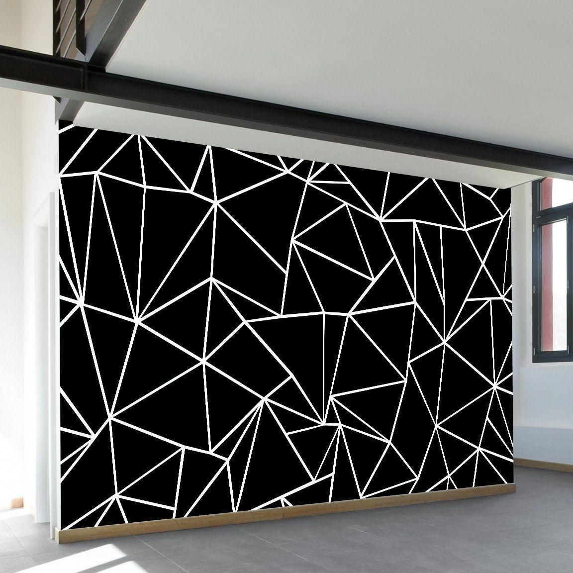 Outline For Accent Wall: Ab Outlines Black Wall Mural In 2020