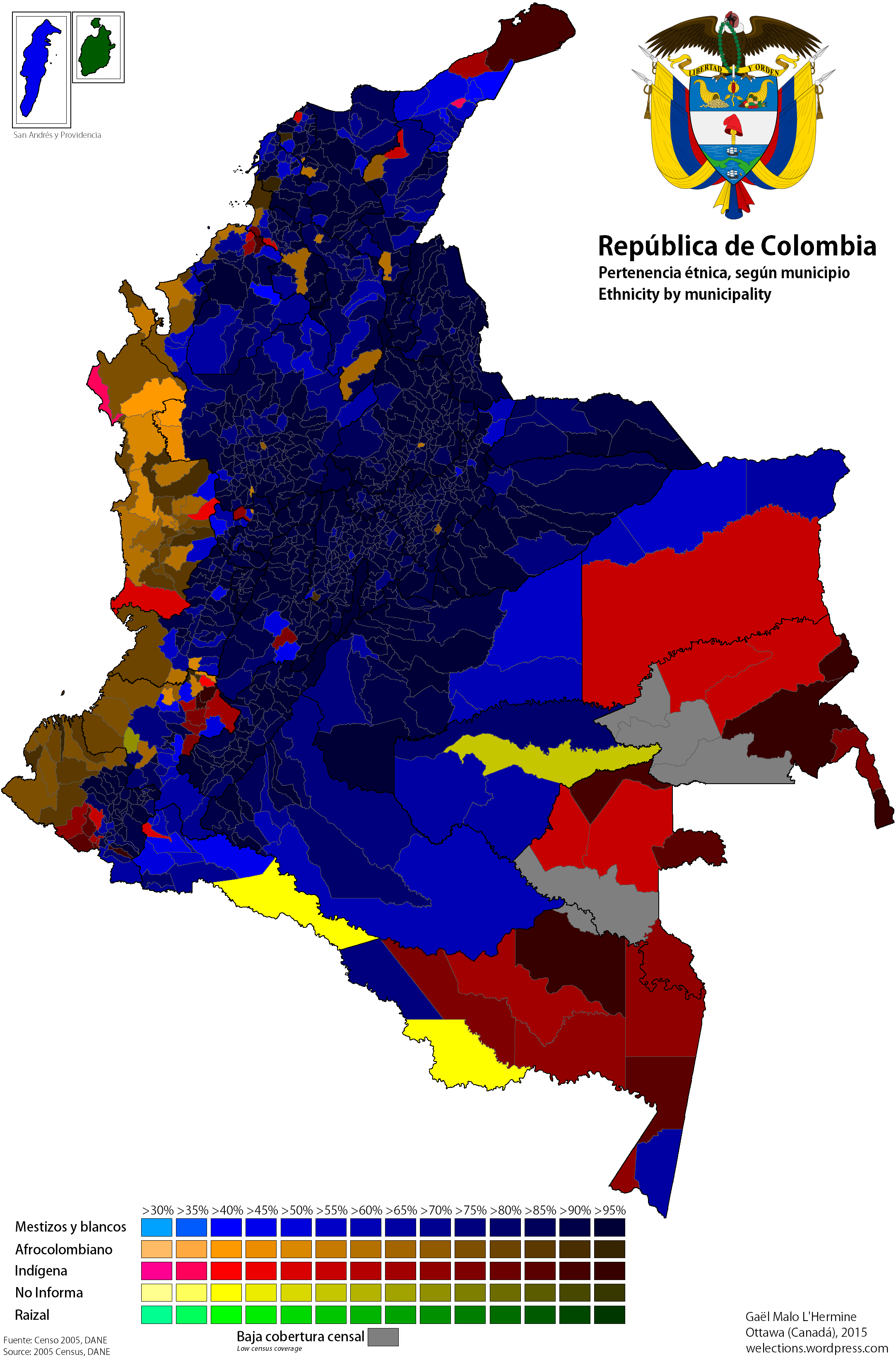 Ethnic Map of Colombia geo Pinterest