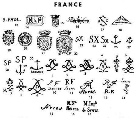 Resultado de imagen para sellos porcelana sevres for Marcas de porcelana