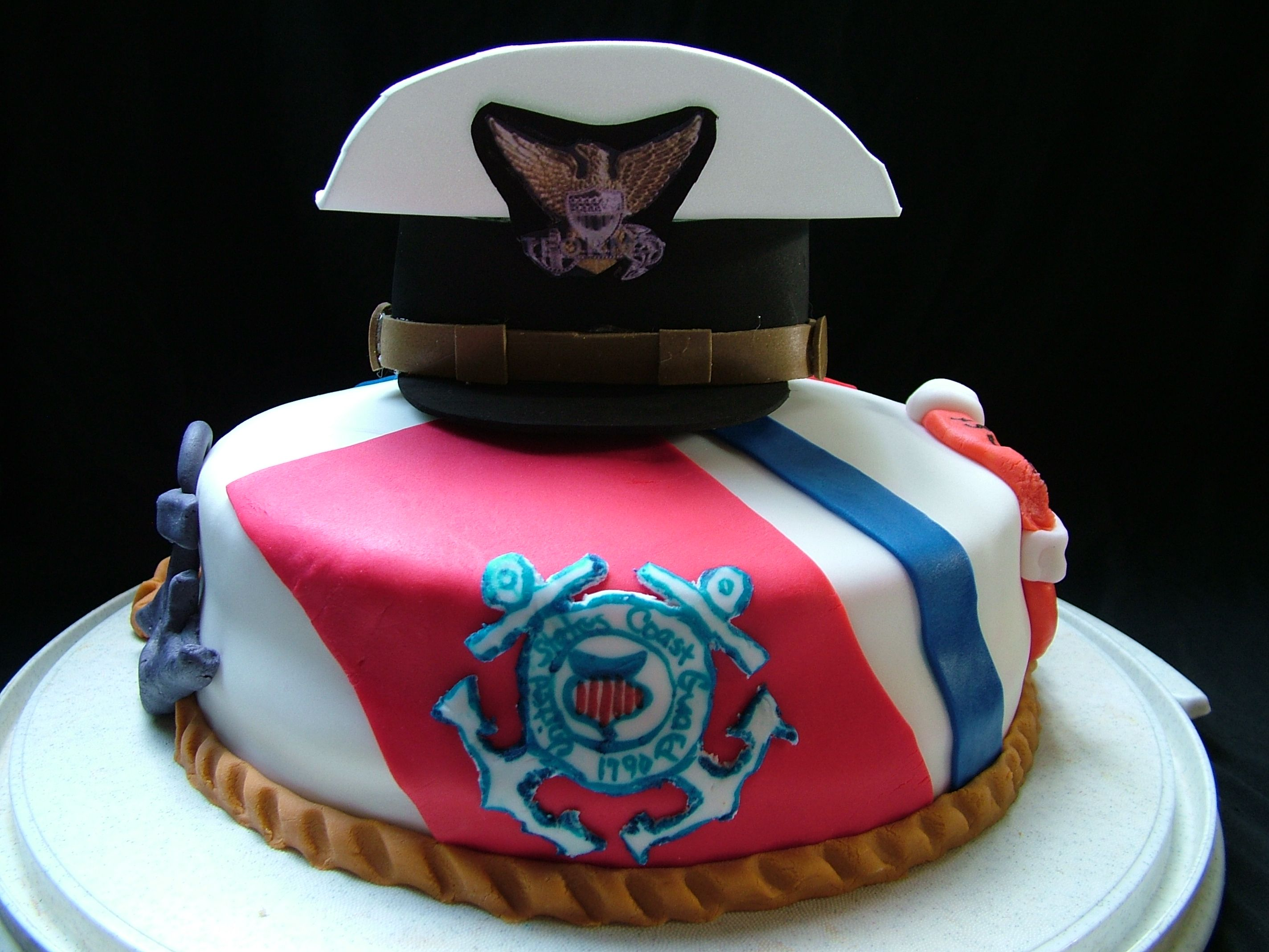 wedding cake makers central coast coast guard cake easy to make use fondant amp the hat is 23126