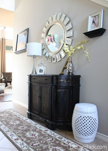 Foyer Table Home Goods : Pretty entryway with z gallerie knock off devon mirror