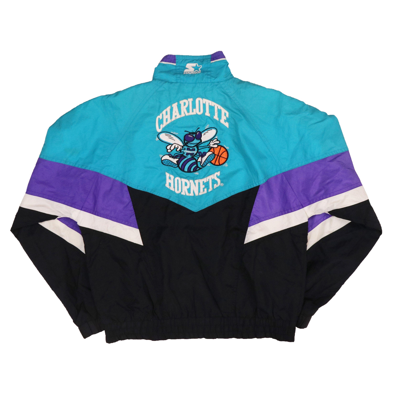 1ac85c545 Vintage 90s Starter Jacket CHARLOTTE HORNETS nba team by HITZSHOP on Etsy