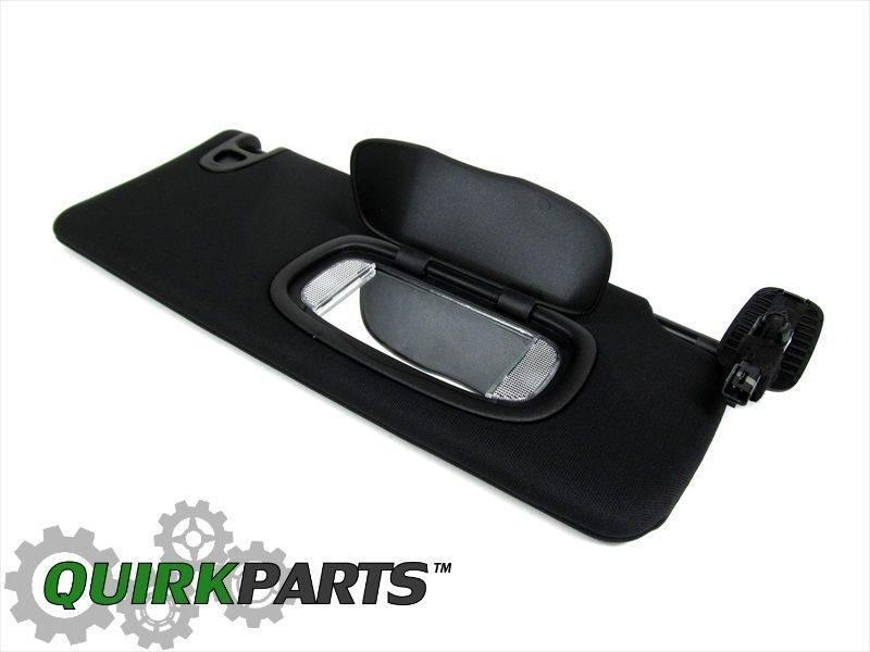 12-14 Dodge Dart Passenger Side Front BLACK Sun Visor W  ILLUMINATED Mirror  OEM  MOPAR 4ef41269723
