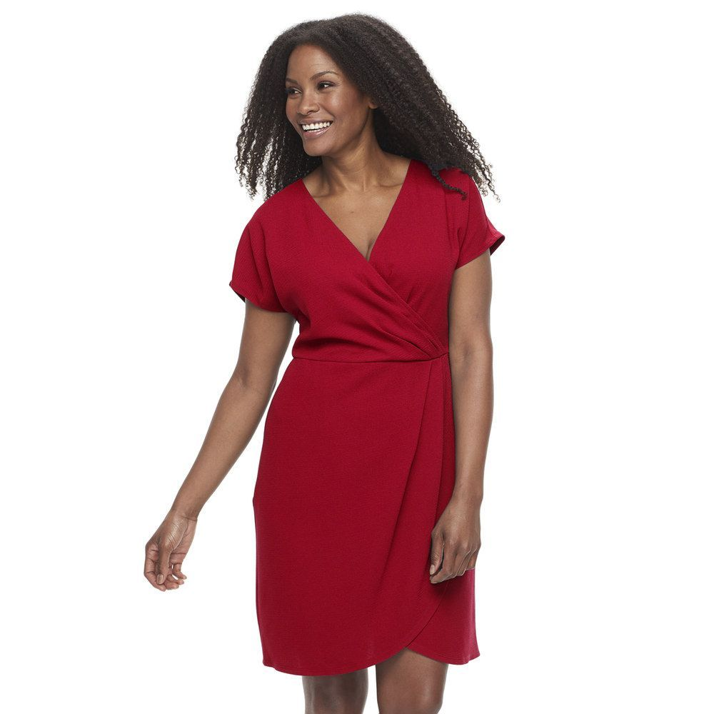 Suite 7 Plus Size Suite 7 Faux-Wrap Dress