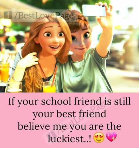I still in school.... | Friends in love, Crazy friends ...  Quotes On School Friends