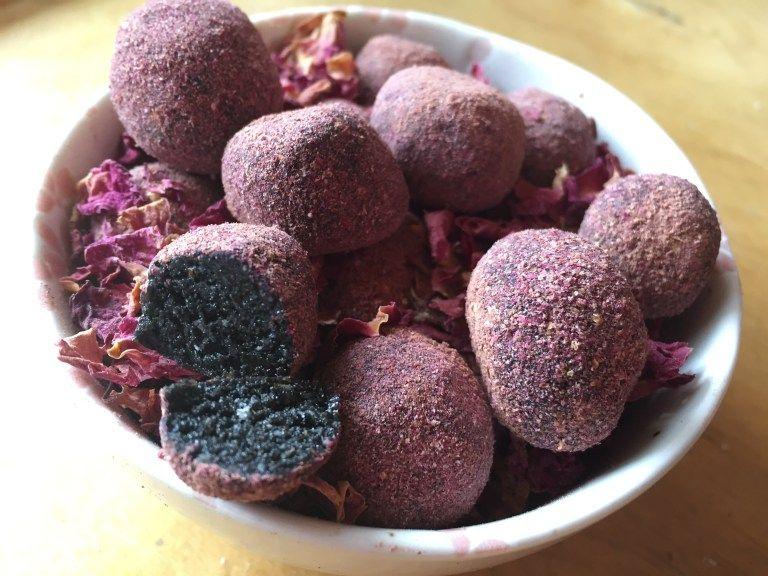 Black Sesame Herbal Truffles | Food, Black sesame, Honey ...