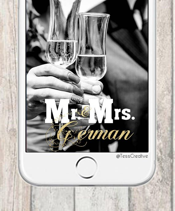 Wedding Snapchat Filter  Custom Mr and Mrs Gold Snapchat On