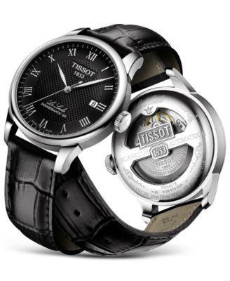 Tissot Men S Swiss Automatic T Classic Le Locle Powermatic 80 Black