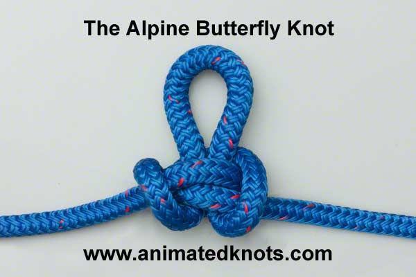Alpine Butterfly Loop Lineman S Loop How To Tie Tons Of Knots